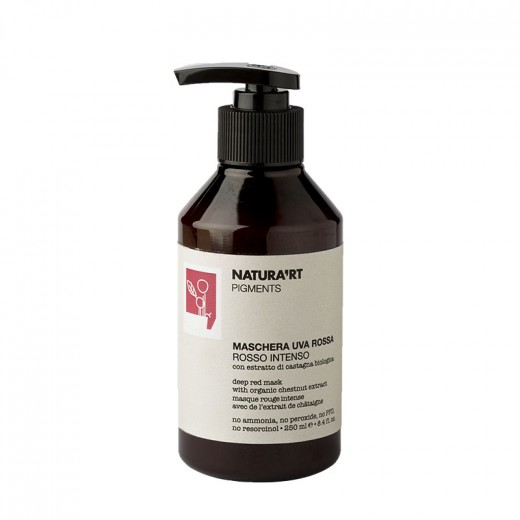 Natura'rt Masque repigmentant rouge intense Red Grape 250ML, Après-shampoing repigmentant