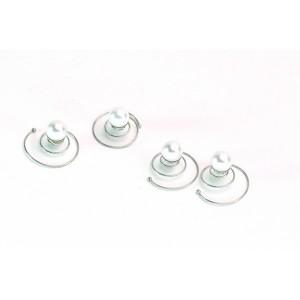 Queen Pam Tourbillons x4 Spirale perle, Ornement