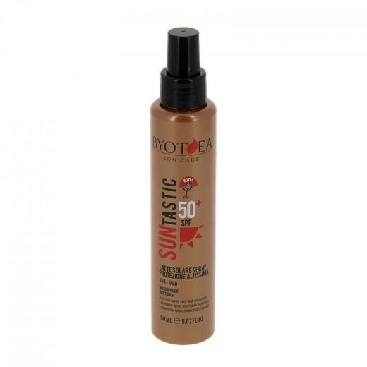 Byotea Lait solaire waterproof SPF50+ très haute protection 150ML, Solaire
