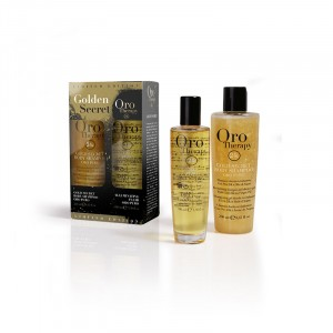 Kit body shampoo & illuminating fluid Golden Secret