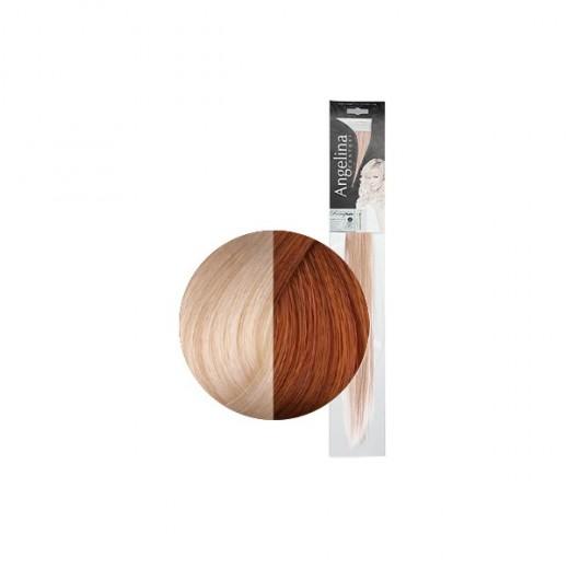 Angelina Mèches extensions blond platine remyhair 45cm 2 paquets, Extension à clip naturel