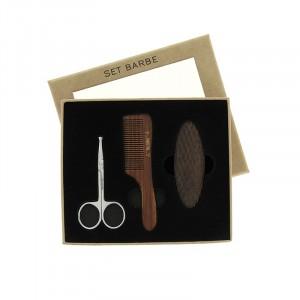 Set de barbe ciseaux - peigne - brosse