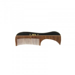 Pure Men Tolerance Mini peigne à manche barbe & moustache 9.5cm, Peigne barbe