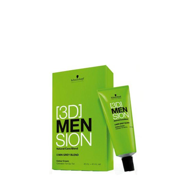 Schwarzkopf Kit de coloration 8-01 Homme - 3DMension 80ML, Coloration ton sur ton