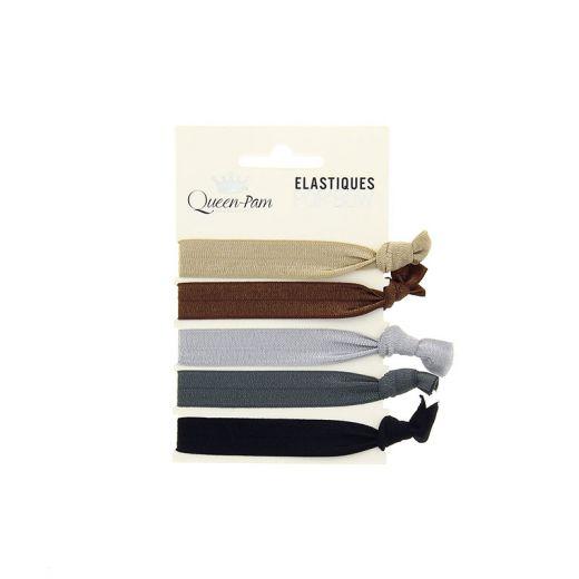 Queen Pam Elastique cheveux Pop'bow Métallique x5, Elastique