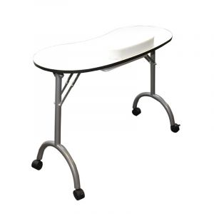 Queen Pam Table manucure pliante Blanche, Table manucure