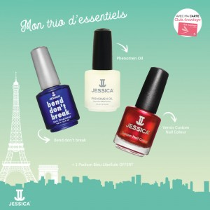 Jessica Pack trio d'essentiels Shall we dance , Vernis à ongles couleur