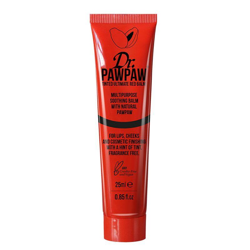 Dr. Pawpaw Baume teinté rouge 25ML, Soin lèvres