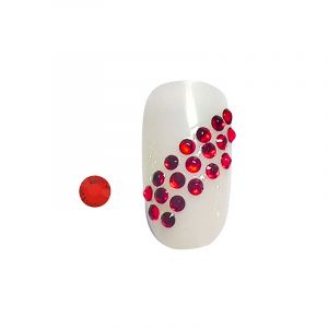 Peggy Sage Strass pour ongles Rouge - Lot x100, Nail Art Strass