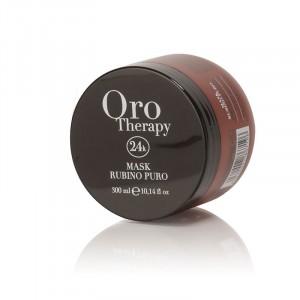 Oro Therapy Masque cheveux colorés et traités Rubino Puro 300ML, Masque cheveux