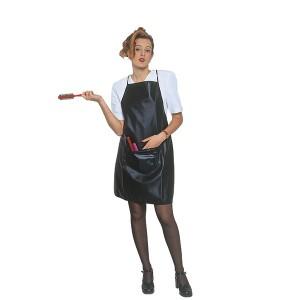Tablier teinture Judith noir avec poche