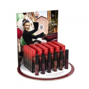 Peggy Sage Présentoir rouges à lèvres liquides Stay Matte, Présentoir produits