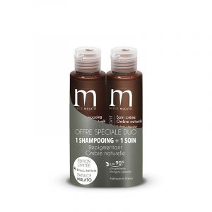 Mulato Offre duo repigmentant 1 shampoing + 1 soin Ombre naturelle (2x100ml) 200ML, Shampoing repigmentant