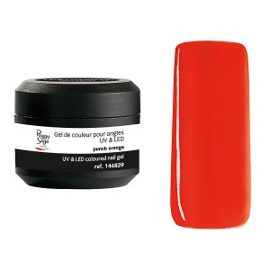 Peggy Sage Gel de couleur UV & LED Technigel Color It Punch orange, Gel couleur