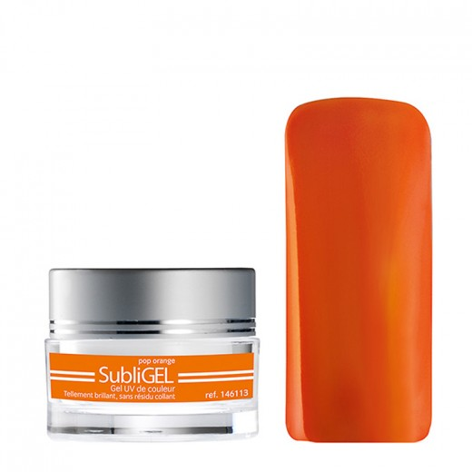 Peggy Sage Gel UV sans résidu collant subliGel Pop orange, Gel couleur