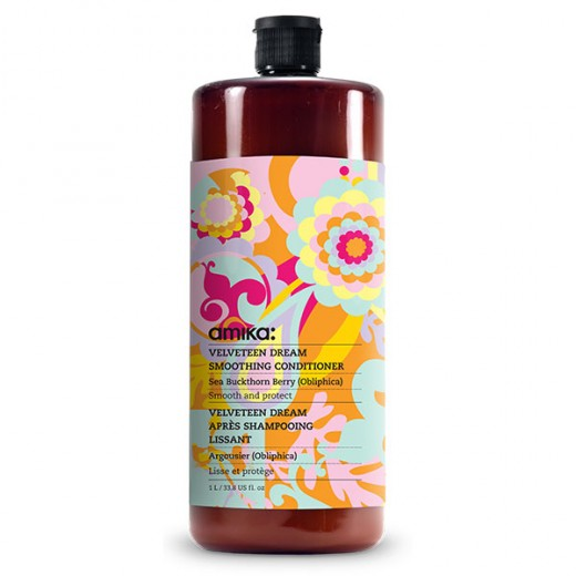 Amika Après-shampooing lissant Velvet Dream Smoothing 1000ML, Après-shampoing avec rinçage