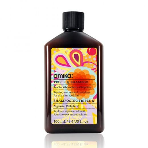 Amika Shampooing réparateur Triple RX Shampoo 100ML, Cosmétique