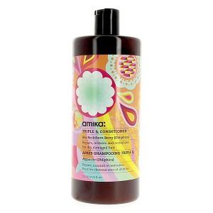 Amika Après-shampooing réparateur Triple RX Conditioner 1000ML, Après-shampoing avec rinçage