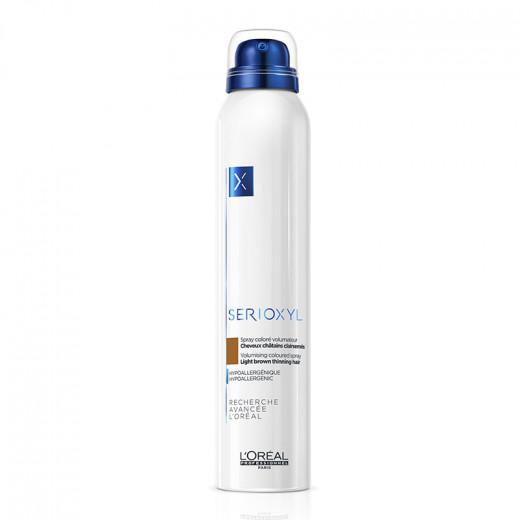Spray coloré volumateur - Cheveux clairsemés Châtain Serioxyl