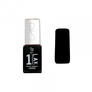 Peggy Sage Mini vernis semi-permanent 1-LAK - Black velours 5ml, Vernis semi-permanent couleur