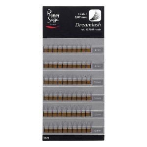 Peggy Sage Extension de cils de soie 6D  - courbure naturelle 007x81012mm, Extensions de cils