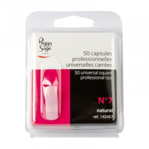 Peggy Sage Capsules professionnelles universelles n°7 x50 Carrée, Capsules ongles