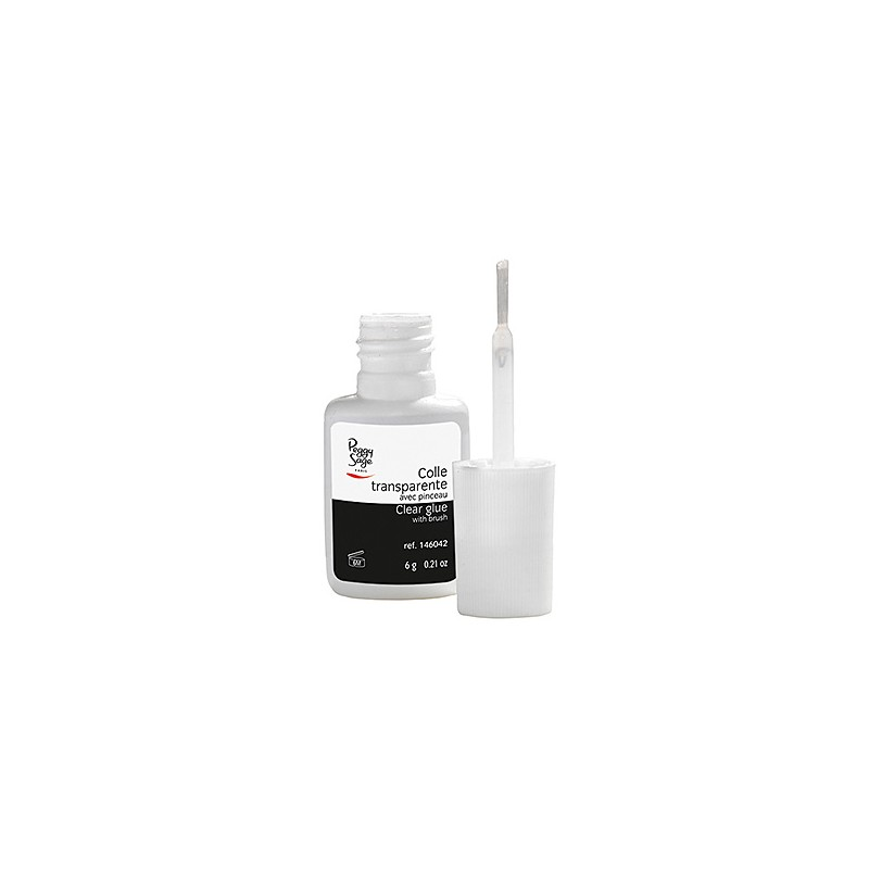 Peggy Sage Colle avec pinceau Transparent 6g, Capsules ongles