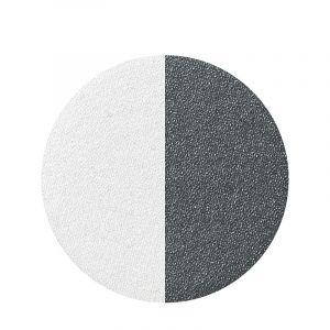 Ombre à paupières duo Blanc perlé - Noir irisé 3g