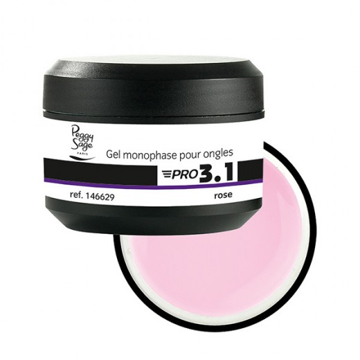 Peggy Sage Gel de construction 3 en 1 Pro 3.1 Rose 50g, Gel construction