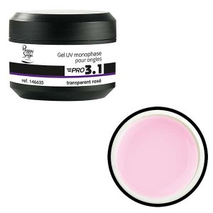 Peggy Sage Gel de construction 3 en 1 Pro 3.1 Transparent rose 15g, Gel construction