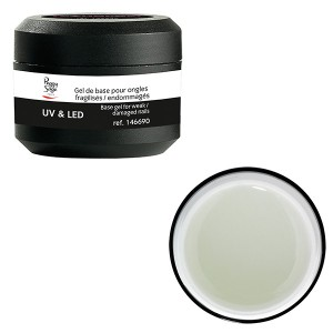Peggy Sage Gel UV et LED de base ongles fragilisésendommagés Transparent 15g, Primer et base coat