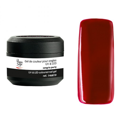 Peggy Sage Gel de couleur UV & LED Technigel Color It Sangria party, Gel couleur