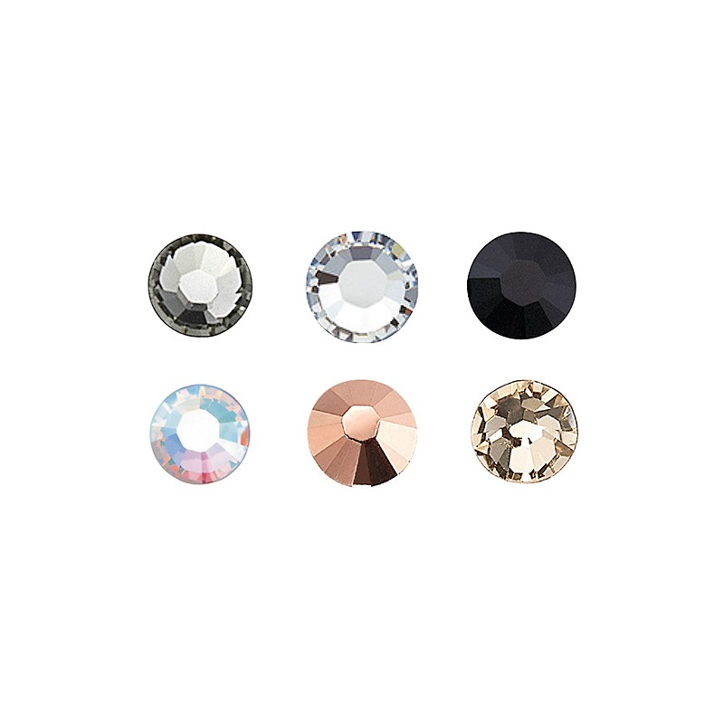 Peggy Sage Strass pour ongles x20 Multicolore, Nail Art Strass
