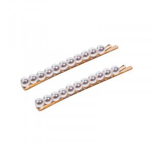 Atout Beauté Lot de 2 pinces-guiches de 11 perles Blanche, Pince