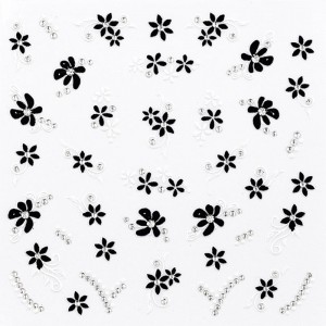 Sticker décors ongles Black & white