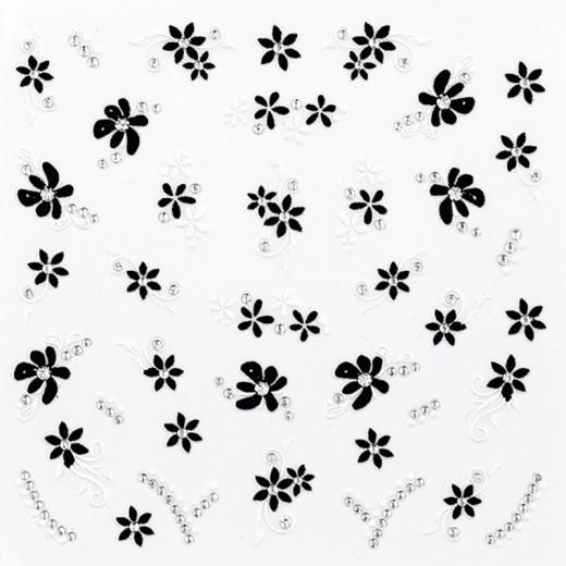 Peggy Sage Sticker décors ongles Black & white, Sticker décoratif