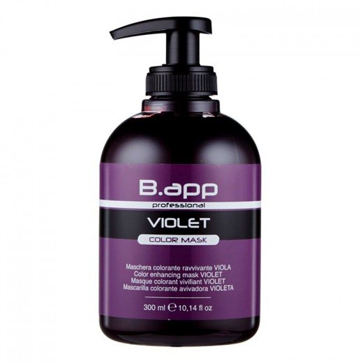 B-App Masque colorant vivifiant Color Mask violet 300ML, Après-shampoing repigmentant