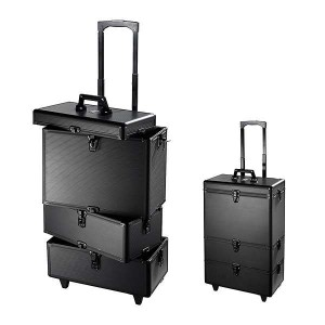 Peggy Sage Valise professionnelle trolley Black, Mallette maquillage
