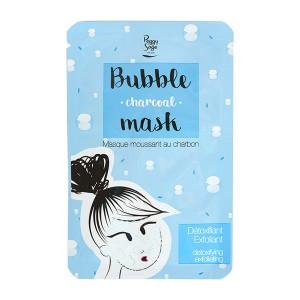 Peggy Sage Masque tissu moussant au charbon 20ml 20ML, Masque visage