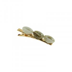 Bleu Libellule Pince à cheveux trois coquillages, Pince