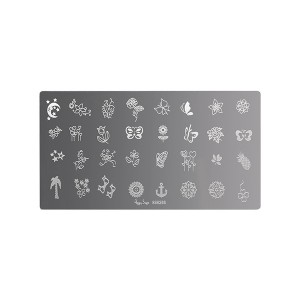 Plaque de stamping nail art Butterfly