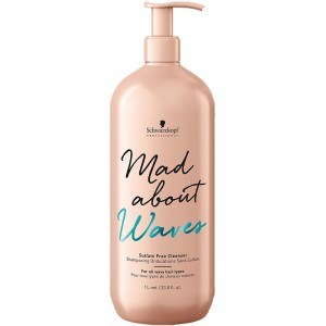 Schwarzkopf Shampooing ondulations sans sulfate Mad About Waves 1000ML, Cosmétique