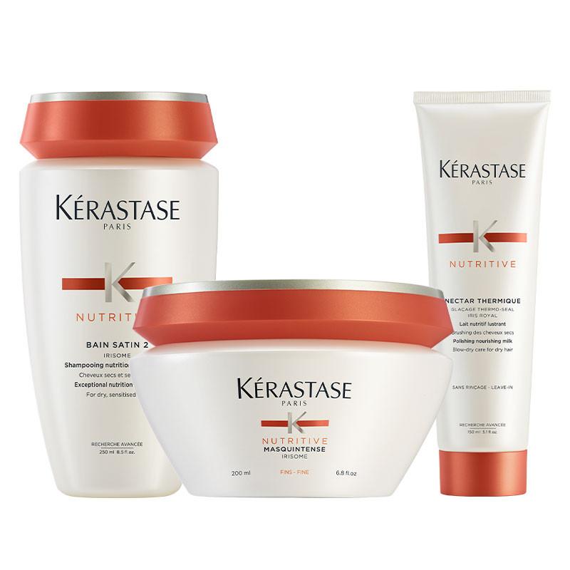 Kerastase Trio Nutritive Cheveux Fins 600ML, Cosmétique