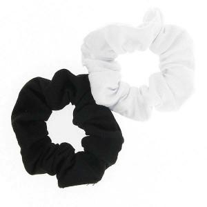 Chouchou tissu x2 Noir & blanc