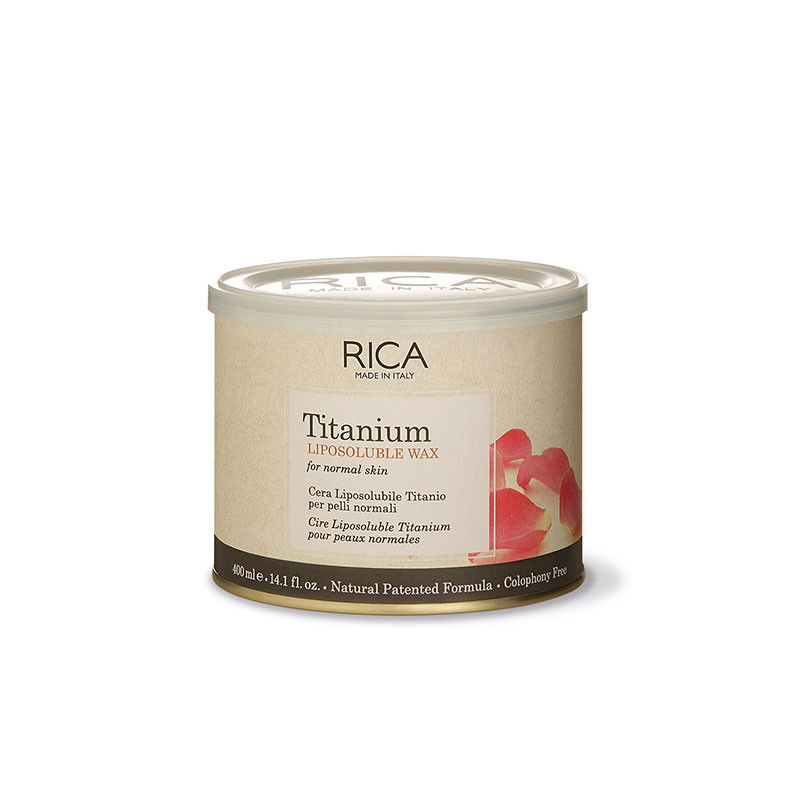 Rica Cire d'épilation Rose titane 400ML, Pot de cire