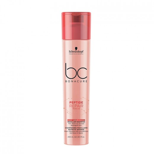 Schwarzkopf Shampooing micellaire nutritif intense Peptide Repair Rescue 250ML, Cosmétique