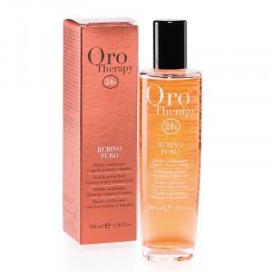 Oro Therapy Fluide sublimant cheveux colorés Rubino Puro 100ML, Sérum