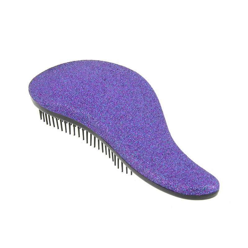 Coiffeo Brosse démêlante pailletée violet , Brosse démêlante