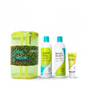 DevaCurl Holiday kit adoucissant cheveux très bouclés Super Curly Softening, Coffret