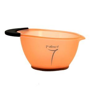 Bol avec poignée en silicone Orange